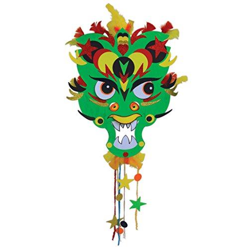 Springboard Chinees Nieuwjaar Dragon Giant Masker Maken Activiteit (Pack van 5)