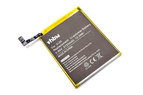 vhbw Litio polímero batería 3120mAh (3.85V) para móvil Smartphone teléfono BQ Aquaris M5