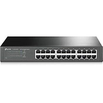 TP-Link 24 Port Gigabit Ethernet Switch | Desktop/ Rackmount | Limited Lifetime Protection | Plug & Play | Shielded Ports | Sturdy Metal | Fanless Quiet | Traffic Optimization | Unmanaged  TL-SG1024S