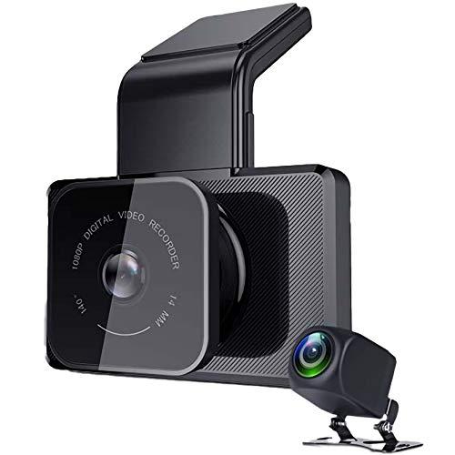 LPWCAWL Cámara De Coche, Grabadora De Conducción De 3', 1080P HD WiFi Dash CAM con Gran Angular De 140°, Visión Nocturna, Rastreador GPS, Sensor-G, Grabación En Bucle, Control De Aparcamiento