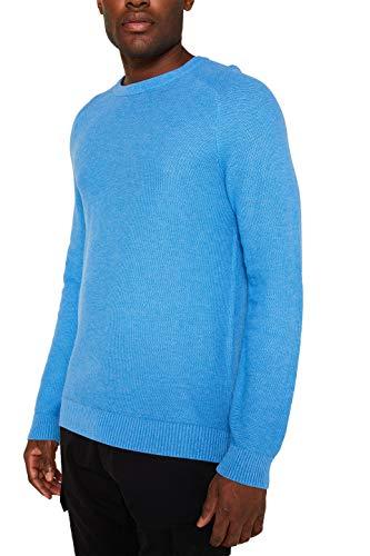 ESPRIT Herren 129EE2I014 Pullover, Blau (Bright Blue 5 414), Large (Herstellergröße:L)