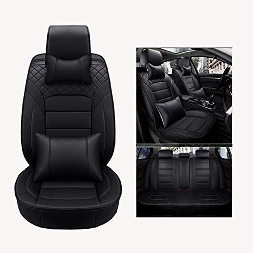 LUOLONG autostoelhoes, PU lederen autostoelhoezen, universeel, volledige stoelhoezen voor Volvo S40 S60 S70 S80 S90 V40 V50 V60 V90 XC60 XC70 XC90 stijl Black Luxury