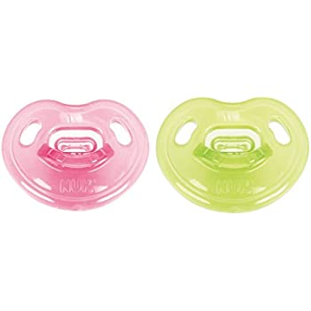 NUK Newborn 100% Silicone Orthodontic Pacifiers, 0-3 Months, Girl, 1 pk
