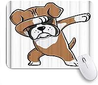 KAPANOUマウスパッド ボクサー犬を軽くたたく ゲーミング オフィス最適 高級感 おしゃれ 防水 耐久性が良い 滑り止めゴム底 ゲーミングなど適用 マウス 用ノートブックコンピュータマウスマット