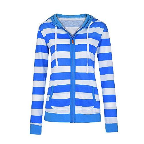 Sweatjacke Hoodie Sweatshirt Pullover Damen mit Full-Zip,Dtura Herbst/Winter PlaidLangarm Oberteile Hoody,Ladies WorkoutWeich HoodedWinterpullover Kapuzenshirt