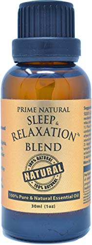 Prime Natural Sleep & Relaxation Essential Oil Blend 30ml / 1oz - Pure Undiluted Therapeutic Grade for Aromatherapy Scents Diffuser - Natural Sleep Aid, Stress Anxiety Relief Calming