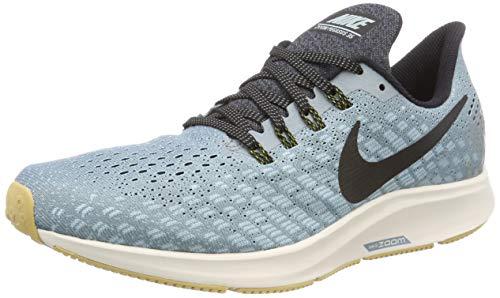 Nike Air Zoom Pegasus 35, Chaussures de Running Homme, Gris (Aviator Grey/Black-Blue Fury 015), 44 EU
