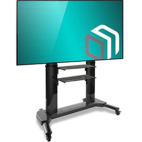 ONKRON Supporto TV da pavimento per schermi 40  - 80 pollici LCD LED QLED CARRELLO TV UNIVERSALE CON ROTELLE PIEDISTALLO PER TV FINO 45.5 kg MOBILE STAFFA TV CON VESA max 700 x 400 mm TS2771