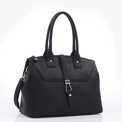 Lowest Price! Emperia Concealed Carry Business Tote Handbag, Black, 16 x 7.5 x 12-Inch