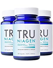 TRU NIAGEN® Nicotinamide Riboside Chloride - Patented NAD+ Booster supporting Cellular Energy & Repair, 300mg Vegetarian Capsules, 300mg Per Serving, 30 Day Bottle (3 Pack)