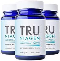 TRU NIAGEN® Nicotinamide Riboside Chloride - Patented NAD+ Booster supporting Cellular Energy & Repair, 300mg Vegetarian...