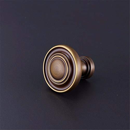 Runde Vintage Küchenschrank Knöpfe Kleiderschrank Tür massiver Messingknopf Vintage Kleiderschrank Möbel Schublade Zugleiste, Bronze