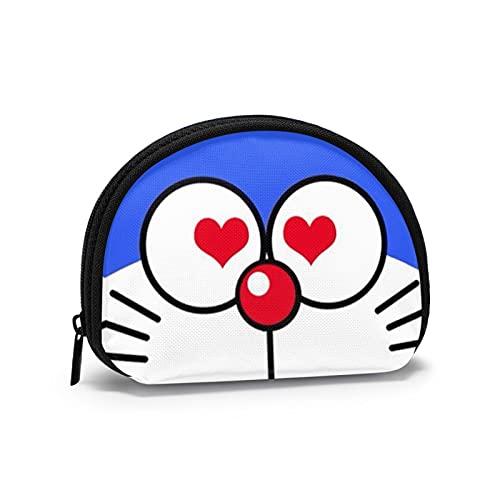 Doraemon Kawaii japonés lindo mini bolso con cremallera dinero chang bolsa mini Shell en forma de cartera para mujeres y niñas