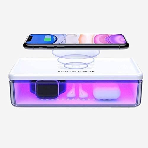 Suzy Desinfektionsbox mit kabellosem Ladegerät, Desinfektions-Sterilisator für mobile Tablets, Stoff, Utensilien, Uhren, Schmuck, elektronische Gadgets & Alltagszubehör
