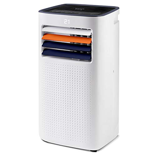 Taurus Temp Design - Aire acondicionado portátil. Climatizador 4 en 1: calor, frío, deshumidificador y ventilador. Silencioso. Temporizador. Mando a distancia. Kit ventana. Ruedas. 2.0kW/1.6kW