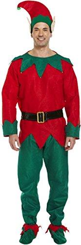 Adultes Elf Costume de déguisement de Noël - One Size