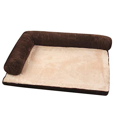 Suppyfly grote hond bed bank huisdier kussen wasbaar nest kat puppy mat kennel huisdier huis M Koffie