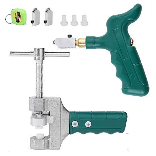 Kit de herramientas de mano de cortador de azulejos de cristal, profesional portátil cortador de azulejos abridor de vidrio rompiendo alicates de cerámica de corte conjunto de herramientas