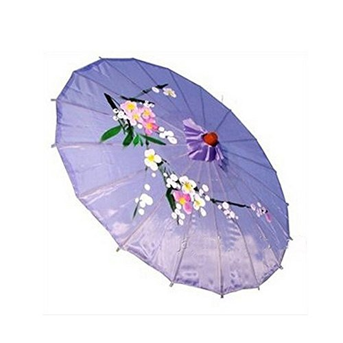 JapanBargain 2167, Asian Parasol Chinese Japanese Nylon Umbrella Parasol for Photography Cosplay Costumes Wedding Party Home Decoration Adult Size, 32 inch, Lavender