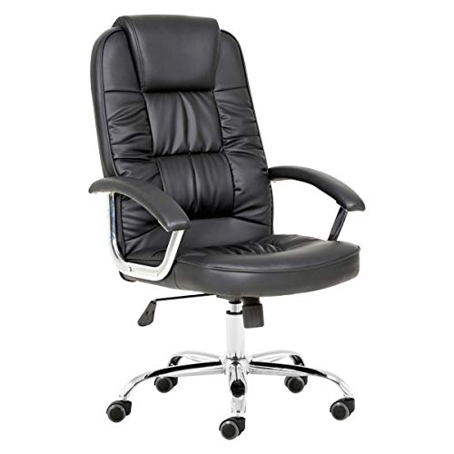 T-LoVendo Office Chair Reclining Adjustable upholstered Leather Recliner Chair
