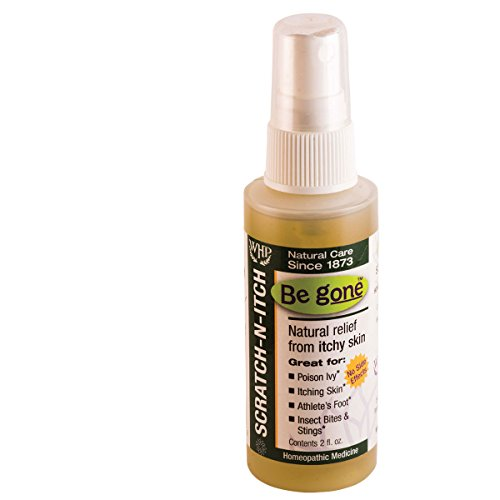 Be Gone™ Scratch-N-Itch Spray, 2 Fluid Ounces. Natural Relief from The itching and blistering of Poison Ivy & Oak. Also Helpful for Athlete's Foot as Well as Bites and stings from Insects.