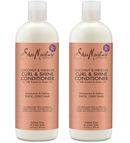 Price comparison product image Shea Moisture Coconut & Hibiscus Curl & Shine Conditioner / 16 fl. oz. (2 Pack)