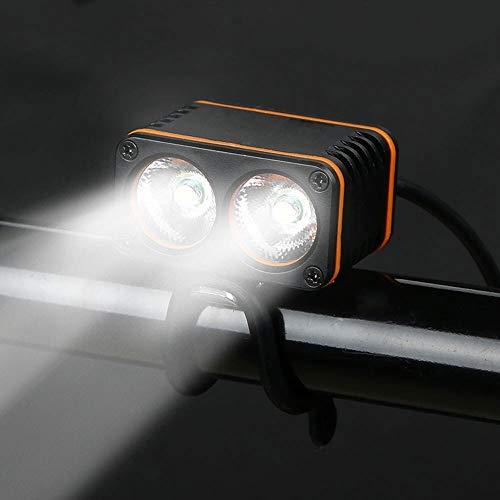 Mercery LED Fahrrad Radfahren wasserdichte Licht Fahrrad Scheinwerfer Scheinwerfer Radfahren Front Stirnlampe Wiederaufladbare USB Ladegerät for Nachtfahrer Fahrradlampe 800Lm 2X Cree XML T6