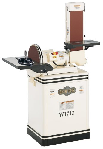SHOP FOX W1712 1.5-Horsepower 6/12-Inch Combination Disc and Belt Sander