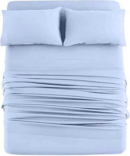 DAN RIVER Jersey Knit Sheets All Season Soft Cozy Full Jersey Sheets T Shirt Sheets Jersey Cotton product image