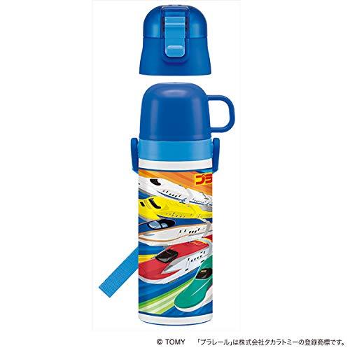 スケーター 超軽量 2WAY ステンレスボトル 水筒 コップ付き 470ml 保温 保冷 プラレール 17 SKDC4