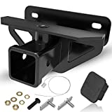 oEdRo 2' Rear Trailer Hitch Receiver Class 3 Tow Towing Hitch & Cover Kit,...