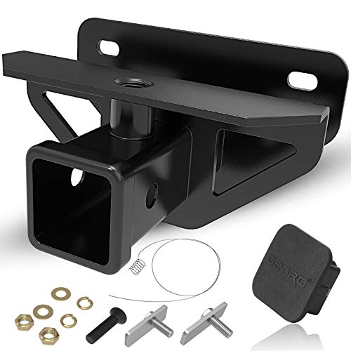 """OEDRO 2"""" Rear Trailer Hitch Receiver Class 3 Tow Towing Hitch & Cover Kit, Fits 2003-2018 Dodge Ram 1500/2003-2013 Ram 2500 3500/2019-2021 Ram 1500 Classic, Tow Combo (Hitch Cover Included)"""