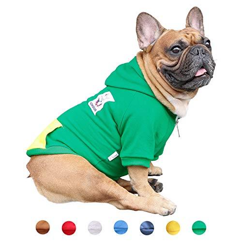 iChoue Pet Clothes Dog Hoodie Hooded Full-Zip...