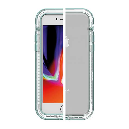 LifeProof NEXT SERIES Case for iPhone SE (2nd gen - 2020) and iPhone 8/7 (NOT PLUS) - SEASIDE (CLEAR/AQUIFER), 2.91 x 0.43 x 5.71 inches