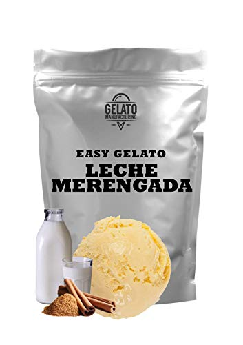 Base mix para helado de LECHE MERENGADA, con 1.4 kg mix + 2.6 lt leche se obtienen 5,5 litros de helado