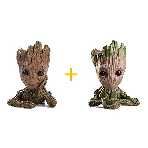 WILLBAN Baby Groot bloempot - Marvel actiefiguur van Guardians of The Galaxy voor planten en pennen (F)
