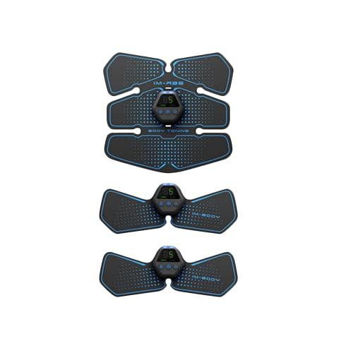 Shapewear Electroestimulador Muscular,10 Modos Abdominales Cinturón, Masajeador Eléctrico con USB, EMS Ejercitador del Abdomen/Brazo/Piernas/Cintura