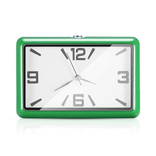 HRNAKDFKL Reloj de cuarzo para salpicadero de coche, redondo, analógico, de cuarzo, adhesivo, con clip de ventilación, para coche, SUV y MPV, decoración interior (verde)