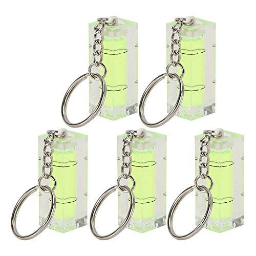 RiToEasysports Paquete de 5 Niveles de Burbuja Cuadrados de Burbuja de Nivel de Alta precisión con Llavero para trípodes, máquinas, Colgar Cuadros