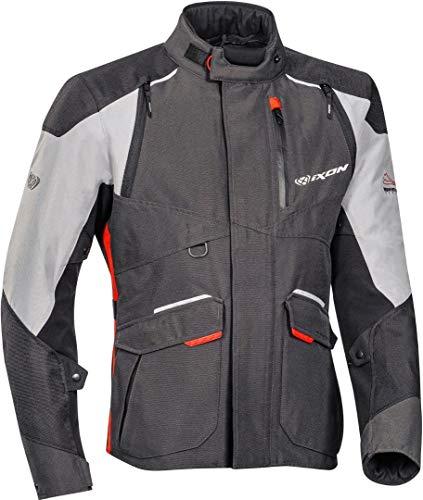 Ixon Balder Giacca tessile moto Nero/Grigio/Rosso L