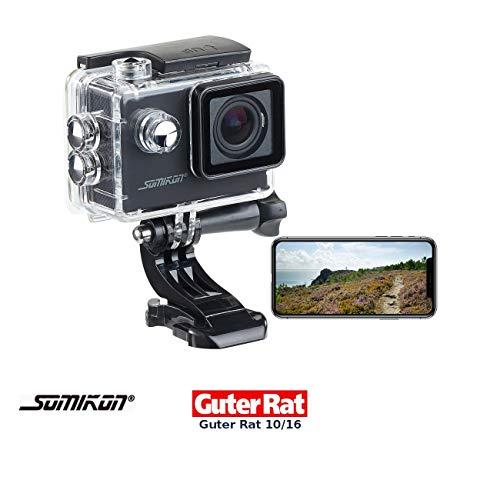 Somikon Motorrad Kamera: Einsteiger-4K-Action-Cam, WLAN Full HD (60 fps) mit Unterwassergehäuse (Action-Camera 4K)