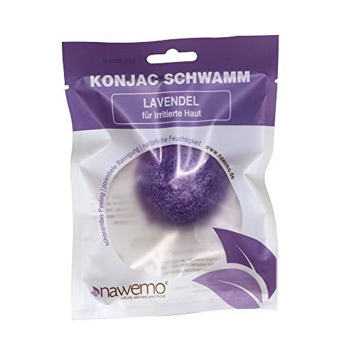 Éponge konjac Nawemo à la lavande pour les peaux irritées
