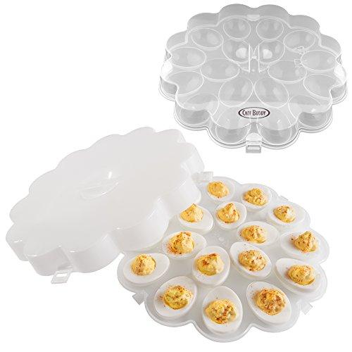 Chef Buddy Deviled Egg Tray, 1.875x10.875x10.875, Clear