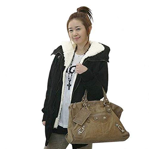 Dames winter hoodie fleece jack getailleerd capuchon wintermantel unieke gezellige overgang Fashionable Completi mantel