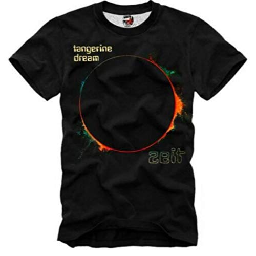 E1SYNDICATE Tangerine Dream Camiseta Zeit Electronic Music New Age PROG Kraftwerk, Negro, XX-Large
