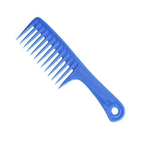 くし、大型ナイフくしプラスチック大歯ワイド歯櫛フラット櫛ハンディポータブルメイクくしシャンプーくし (Color : D)
