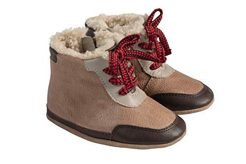 Robeez Wyatt Camel Cozy Baby Shoe 6-12mo