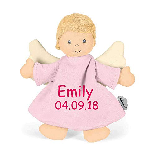 Sterntaler Schmusetuch Schutzengel rosa medium mit Namen Geburtsdatum bestickt Schnuffeltuch