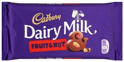 Cadbury Lattiero Caseario Frutta E Dado (200g) (Confezione da 6)