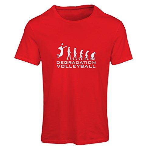 lepni.me Camiseta Mujer Degradación del Juego de Voleibol, Regalo de Humor para Jugadores de Deportes (Medium Rojo Blanco)